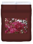 Pink Flowers On Blooming Tree Duvet Cover