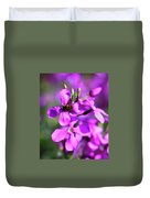 Pink Flowers With Bee . 40d4803 Duvet Cover