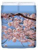 Pink Fluffy Branches Duvet Cover