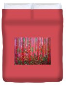 Pink Forest Duvet Cover