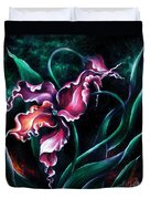 Pink Fuschia Orchid. Dance Of The Nature Duvet Cover