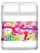 Pink Garden Tree Duvet Cover