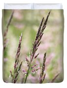Pink Grass Duvet Cover