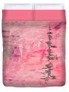 Pink Gray Abstract Duvet Cover