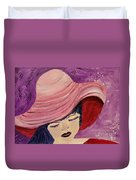 Pink Hat Duvet Cover