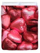Pink Heart Chocolates I Duvet Cover