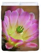 Pink Hedgehog Cactus Duvet Cover