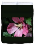 Pink Hibiscus Cose -up Duvet Cover