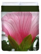 Pink Hibiscus Ready To Bloom Duvet Cover