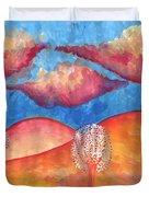 Pink Hills Dream Duvet Cover