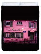 Pink House Duvet Cover by Milan Mirkovic