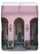 Pink House Duvet Cover