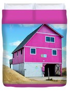 Pink House On The Beach 1 Duvet Cover
