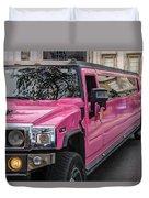 Pink Hummer At Trafalgar Duvet Cover