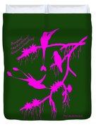 Pink Hummingbirds Duvet Cover