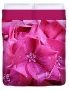 Pink Hydrangea After Rain Duvet Cover