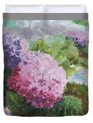 Pink Hydrangea Duvet Cover