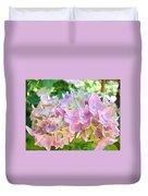 Pink Hydrangea Flower Garden Art Prints Baslee Troutman Duvet Cover