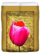 Pink Impression Tulip Duvet Cover