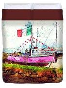Pink Irish Boat Duvet Cover