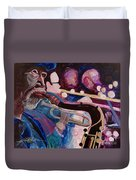Pink Jazz Duvet Cover