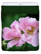 Pink Knockout Rose After The Rain Duvet Cover