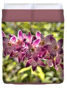 Pink Ladies In Spring Glory Duvet Cover