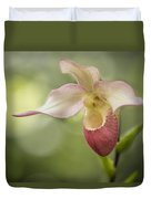 Pink Lady Slipper Duvet Cover