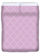 Pink Lavender Quatrefoil Duvet Cover