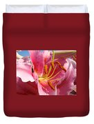 Pink Lilies Art Prints Lily Flowers 3 Giclee Artwork Baslee Troutman  Duvet Cover