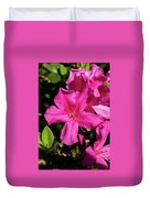 Pink Lilies Blooming Duvet Cover