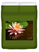 Pink Lily Reflection 4 Duvet Cover