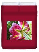 Pink Lily Summer Botanical Garden Art Prints Baslee Troutman Duvet Cover