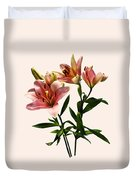 Pink Lily Trio Duvet Cover