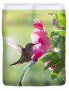 Pink Little Anna's Chupa Sittin In A Flower Duvet Cover