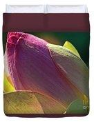 Pink Lotus Bud Duvet Cover
