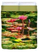 Pink Lotus Flower 2 Duvet Cover