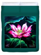 Pink Lotus From L.a. City Park Duvet Cover