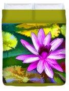 Pink Lotus Gallery  Duvet Cover
