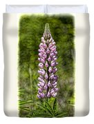 Pink Lupine Duvet Cover