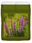 Pink Lupins Duvet Cover