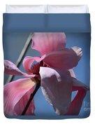 Pink Magnolia Closeup Duvet Cover