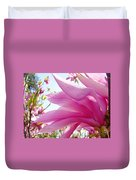 Pink Magnolia Flower Art Print Botanical Tree Baslee Troutman Duvet Cover