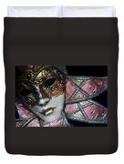 Pink Mask Duvet Cover