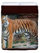 Pink Nosed Tiger Duvet Cover