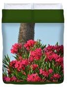 Pink Oleander Duvet Cover