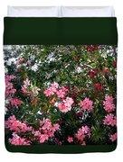 Pink Oleanders Duvet Cover
