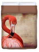 Pink On Brown Scratch Duvet Cover