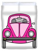 Pink On Wheels Duvet Cover