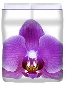 Pink Orchid On White Duvet Cover
